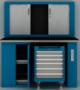 Mobilier d'atelier sur mesure tant en couleur qu'en type de besoin en meuble par postes de travail 1