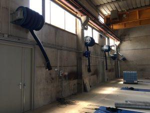Réalisation aspiration Gaz d'échappement et ventilation de fosse et ventilation général