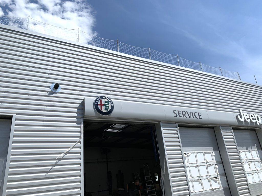Installation d'un système d'extraction des gaz d'échappement